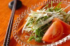 水菜と大根のユズコショウドレッシングサラダ