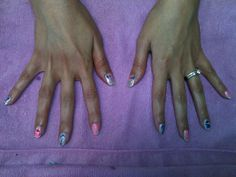 Gender reveal nails By Kristi Owens At Astonish salon Midland tx