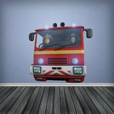 Full Colour Jupiter Fire Engine Fireman Sam Boys Bedroom Wall Sticker Decal  Kids Bedroom Decoration byfireman sam wall sticker vinyl decal   eBay   Ideas for the House  . Firefighter Room Decorations. Home Design Ideas