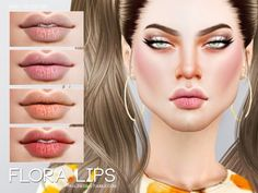 The Sims Resource: Flora Lips N69 by Pralinesims • Sims 4 Downloads