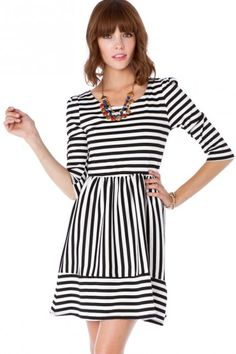 Jordane Striped Dress in Classic. If I weren't on a spending hiatus this year, this dress would so be on my list!!!!