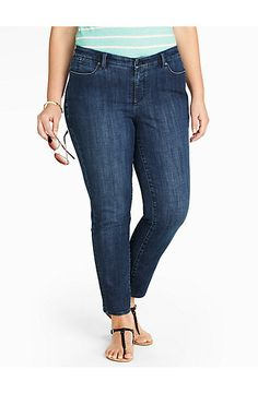 The Flawless Five-Pocket Ankle Jean - Delta Blue