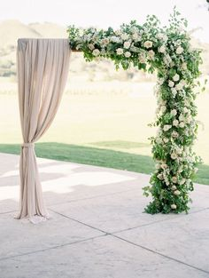 21 Ballet-Inspired Wedding Details for Your Inner Ballerina - romantic wedding ceremony arch - greenery, floral and fabric-draped arch Rare Sparrow Floral Design Wedding Ceremony Arch, Wedding Altars, Wedding Bride, Gold Wedding, Wedding Ceremonies, Wedding Aisles, Backdrop Wedding, Garden Wedding, Wedding Shoes