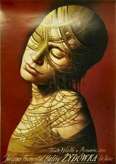 The Jewess [La Juive] (1999) by Wieslaw Walkuski  https://www.contemporaryposters.com/poster.php?number=2107