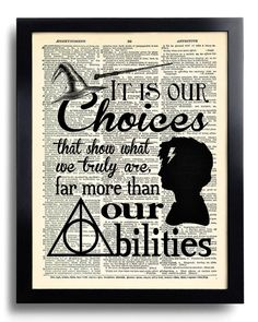 Harry Potter It is our choices that Quote Harry by PrintsVariete