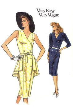 80s VOGUE Size 12/14/16 UNCUT Dress Sewing by KeepsakesStudio