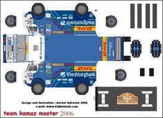Truck Paper Model Papercraft | projet kamaz dakar - CAMIONS-RC.FR