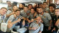 Rode Duivels onderweg naar Brazilië