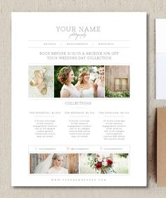Photographer Price List - Pricing Guide Template - Marketing Materials - Graphic Design Templates - Photography Branding - Wedding - m0133 by designbybittersweet on Etsy