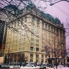 The Fort Garry Hotel in Winnipeg. Some say it's haunted.