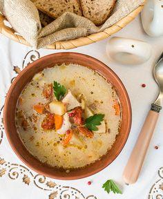 Еще один рецепт супа - что-то прорвало меня на них в последнее время  В этом супе главную роль играет курица, которая, в свою очередь, дополняется сильными вкусовыми ингредиентами - вялеными томатами и корневым сельдереем.Для варки бульона я обычно использую целую курицу - только грудки срезаю и пускаю на другие блюда. Вы при желании можете [...]