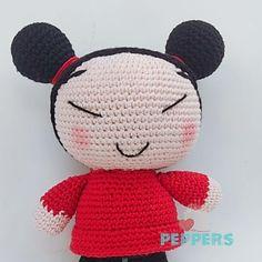 Pucca hecha en algodón, patrón propio! Hello Kitty, Crochet Hats, Fictional Characters, Art, Amigurumi, Knitting Hats, Art Background, Kunst, Gcse Art