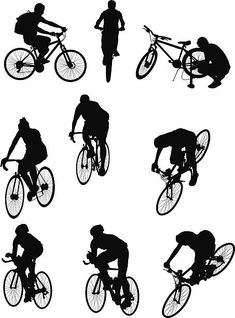 Personas montar bicicletas Vector Art, Royalty Free Stock Photos, Bicycle, Boys, Illustration, People, Movie Posters, Sketch, Cover