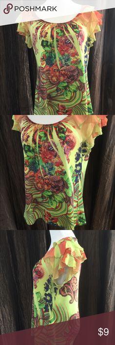 XL Top Full of fun & color from B.L.E.U. size XL BLEU Tops