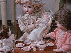 Wonderful way to display your Dollies, Tea Party....