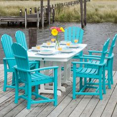 dining room polywood outdoor dining set inside marvelous poly - Slate Cafe Ideas