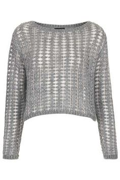 Knitted Metallic Ladder Top - Knitwear  - Clothing
