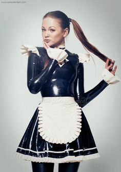 obscuresfantaisies: Alexandra Potter - Latex Maid click here for more informations about latex Always.