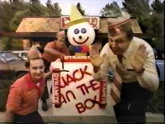 Jack in the Box explodes in this commercial. The trail of video responses show the evolution of the clown throughout the past few decades. Watch hundreds of other classic '80s commercials at youtube.com/MrClassicAds1980s