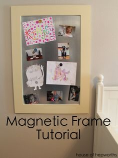 How to make a Magnetic Frame to display artwork