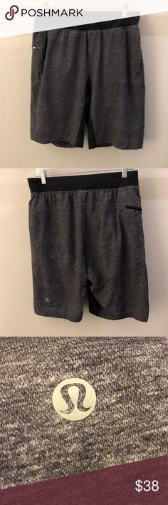 dc12d61e5b Lululemon men's black shorts, sz L, 66161 Lululemon men's heathered black  and black shorts