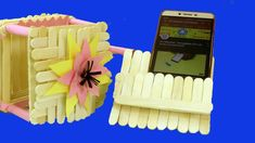 Awesome mobile stand idea with sticks - craft idea for mobiles