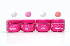 Purity UV Gel Pure White/Pink/Clear/French Pink - Total 4 pcs French Manicure Builder 0.5oz each Fast Curing Professional Salon Quality >>> Details can be found by clicking on the image.