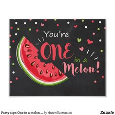 Party sign One in a melon Birthday decor nursery - nurseryart nursey art baby cute print babies 476889048043203337 First Birthday Sign, First Birthday Decorations, Birthday Board, Happy Birthday Wishes, Birthday Fun, First Birthday Parties, First Birthdays, Baby Shower Watermelon, Watermelon Birthday