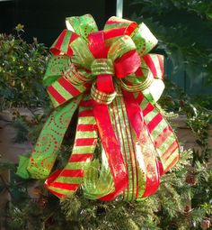christmas tree bow bow topper wreath bow treetop by luxewreaths christmas tree bows christmas tree - Christmas Tree Bows