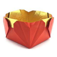 Learn how to make a origami heart box for Valentine's Day