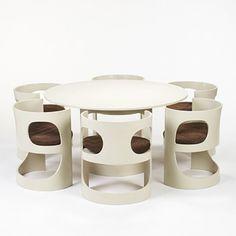 Trendy furniture - Arne Jacobsen, Dining Suite for Asko, Furniture Board, Trendy Furniture, Retro Furniture, Classic Furniture, Home Furniture, Furniture Design, Industrial Furniture, Arne Jacobsen Chair, Dining Suites
