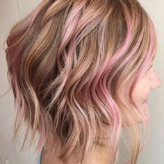 Highlights brown hair with highlights, rose gold highlights, colored highli Brown Blonde Hair, Brown Hair With Highlights, Colored Highlights, Blonde Highlights, Gold Hair Colors, Brown Hair Colors, Hair Colour, Rose Brillant, Non Blondes