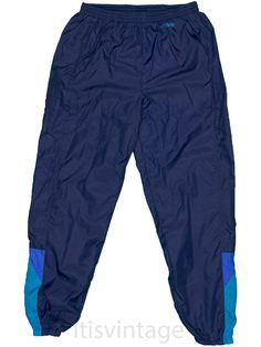 c7755aa3ac9a Nike Track Pants Vintage Color Block XL Cotton Mesh Lined Nylon Shell  Athletic  Nike