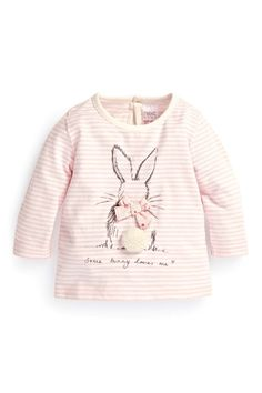 Buy Pink Stripe Bunny T-Shirt (0-18mths) from the Next UK online shop: