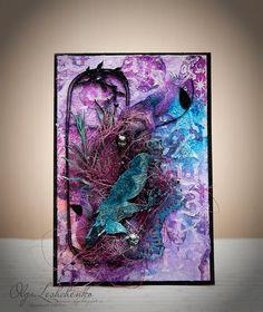 Agrum: Формула №4. Фиолетовый+чипборд=природа