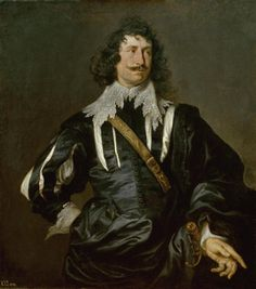Charles - Winter clan - dark mid-higher lord.  Anthony van Dyck - Portrait of a man (1628)