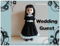 Living Dead Doll Clothes - Goth Black Baby-Doll DRESS and BELT - Handmade Fashion - by dolls4emma