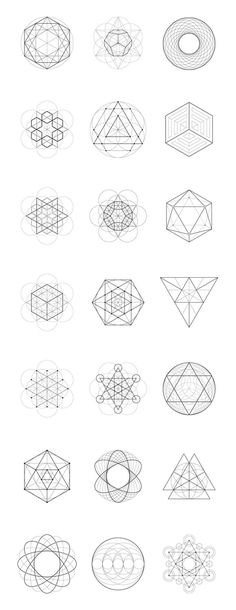 Sacred Geometry: 40 Items by kloroform on Creative Market