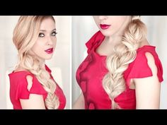 ▶ Stylish messy braid Coachella style ✿ Boho hairstyle tutorial for spring/summer - YouTube