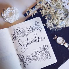 ~Lettering Bullet Journal~ Flowers, coffee stationery Talleres de Bullet Journal y Lettering⤵️