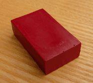 Carmine Red Block Crayon