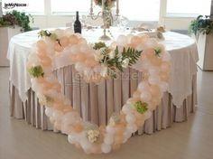 http://www.lemienozze.it/operatori-matrimonio/fiori_e_addobbi/il_punto_esclamativo/media Cuore di palloncini rosa e bianchi per l'allestimento della sala.