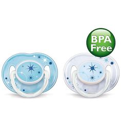 Philips AVENT Night Time Pacifiers Boys - 0-6M
