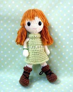 Jade  Crochet Amigurumi girl pattern / PDF by TGLDdoll on Etsy, $4.95