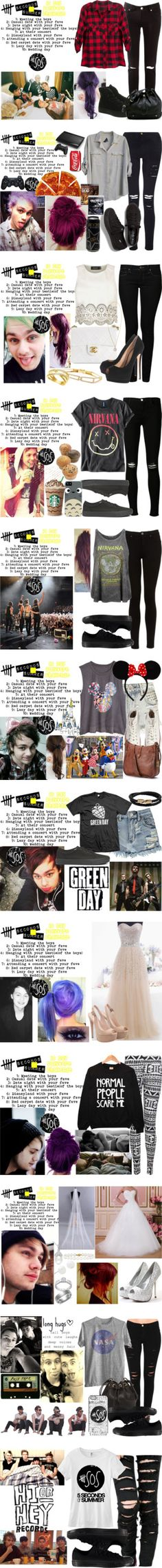 """""""5 Seconds of summer"""" by nanahehe ❤ liked on Polyvore"""