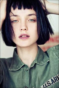 Short Bangs bob | Short bangs, straight bob hair. | Mod