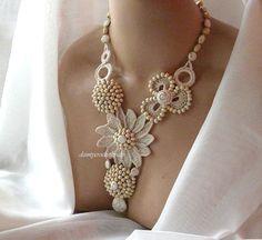 Beautiful shell   crochet necklace from Christina Tristi Háčkované Kvety 26098d9703