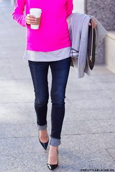 Bright fuchsia top!