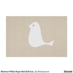 "Abstract White Paper Bird Soft Linen Collage Poster 48""x32"" for $136.05, smaller sizes for lot less!"