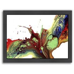 Americanflat If I was a Bird Abstract Framed Wall Art ($110) ❤ liked on Polyvore featuring home, home decor, wall art, black, horizontal wall art, abstract wall art, bird home decor, bird wall art and black framed wall art